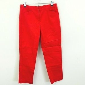 J. Jill Red Ankle Chino Pants